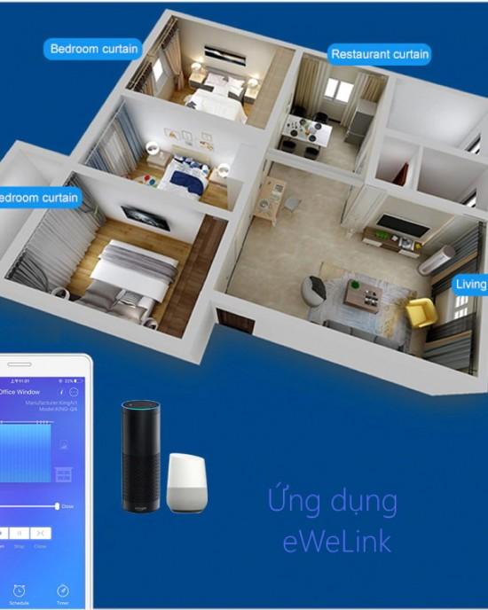 ECWIFI - Công tắc rèm WiFi cảm ứng thông minh eWeLink