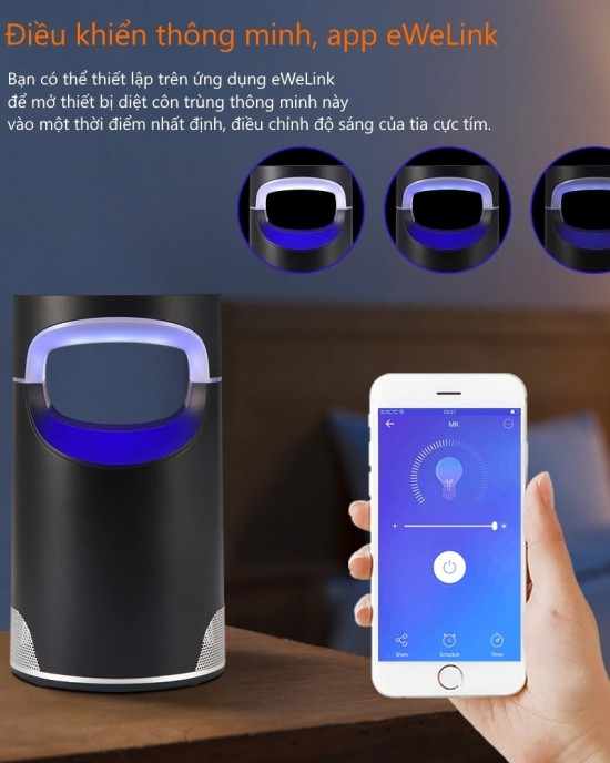 DDCTWIFI - Đèn diệt côn trùng WiFi thông minh