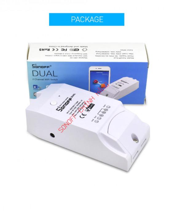 DUAL - Công tắc WiFi thông minh 2 cổng