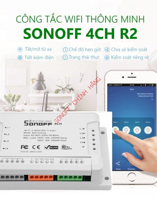 4CH R2 / 4CH - công tắc WiFi 4 cổng