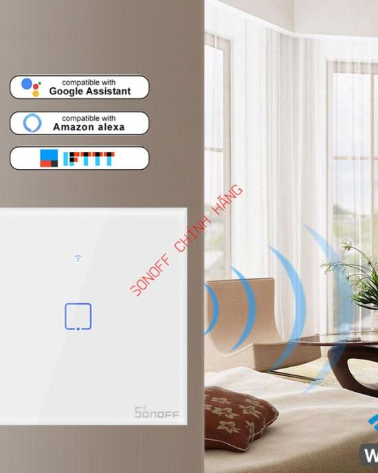 T0 1/2/3 cổng chuẩn EU/UK/US - công tắc WiFi cảm ứng