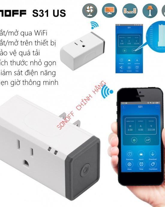 S31 US - phích cắm WiFi đo điện năng tiêu thụ