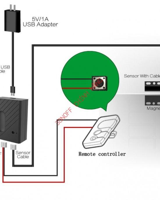 EGARA - Công tắc cửa Gara WiFi thông minh eWeLink