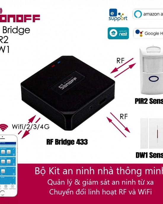 CB-BRIDGE-DW1-PIR2 - Combo an ninh Sonoff đầy đủ phụ kiện