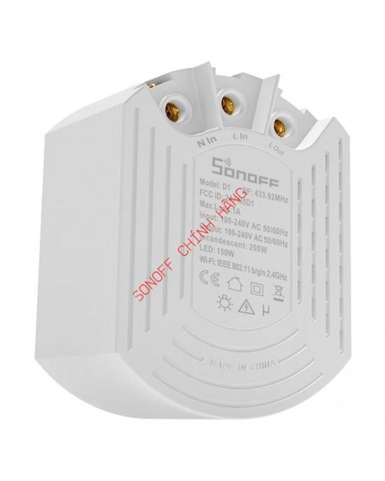 Thiết bị điều chỉnh ánh sáng đèn Sonoff Dimmer D1