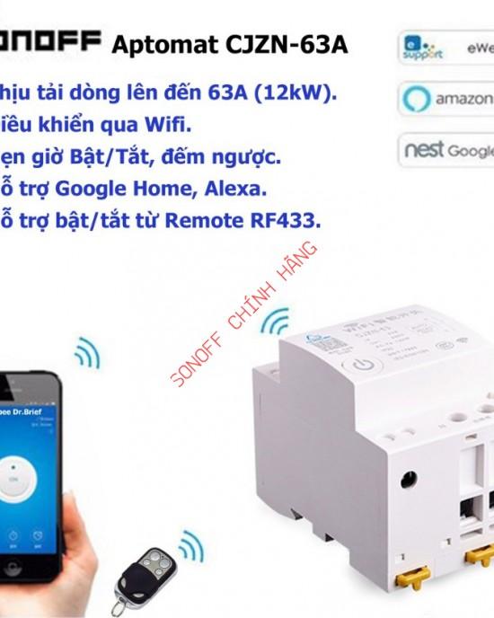 EMCB632PM - Cầu dao tổng WiFi giám sát và điều khiển từ xa qua app eWeLink