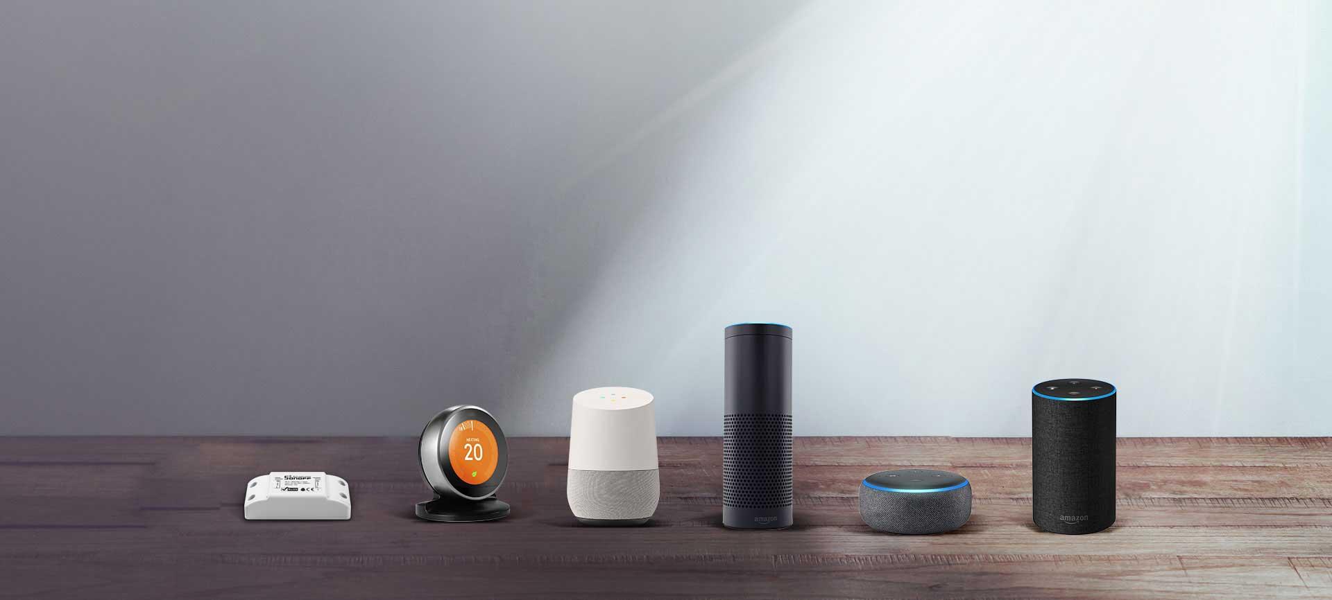Điều khiển qua giọng nói với Google Home, Alexa Echo