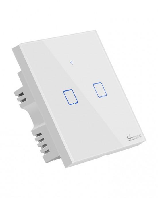 SONOFF T1 1/2/3 cổng chuẩn EU/UK - Công tắc WiFi RF cảm ứng