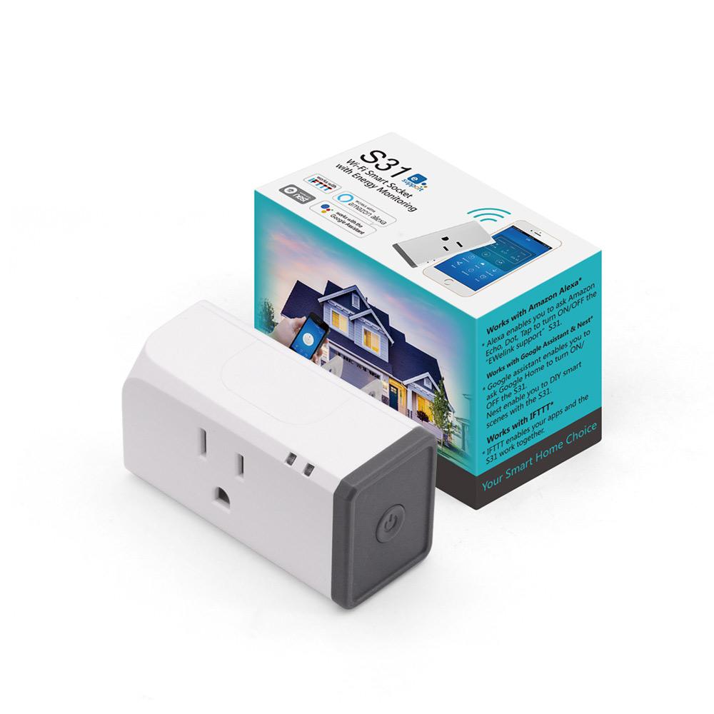 Phích cằm WiFi thông minh giám sát điện năng tiêu thụ Sonoff S31
