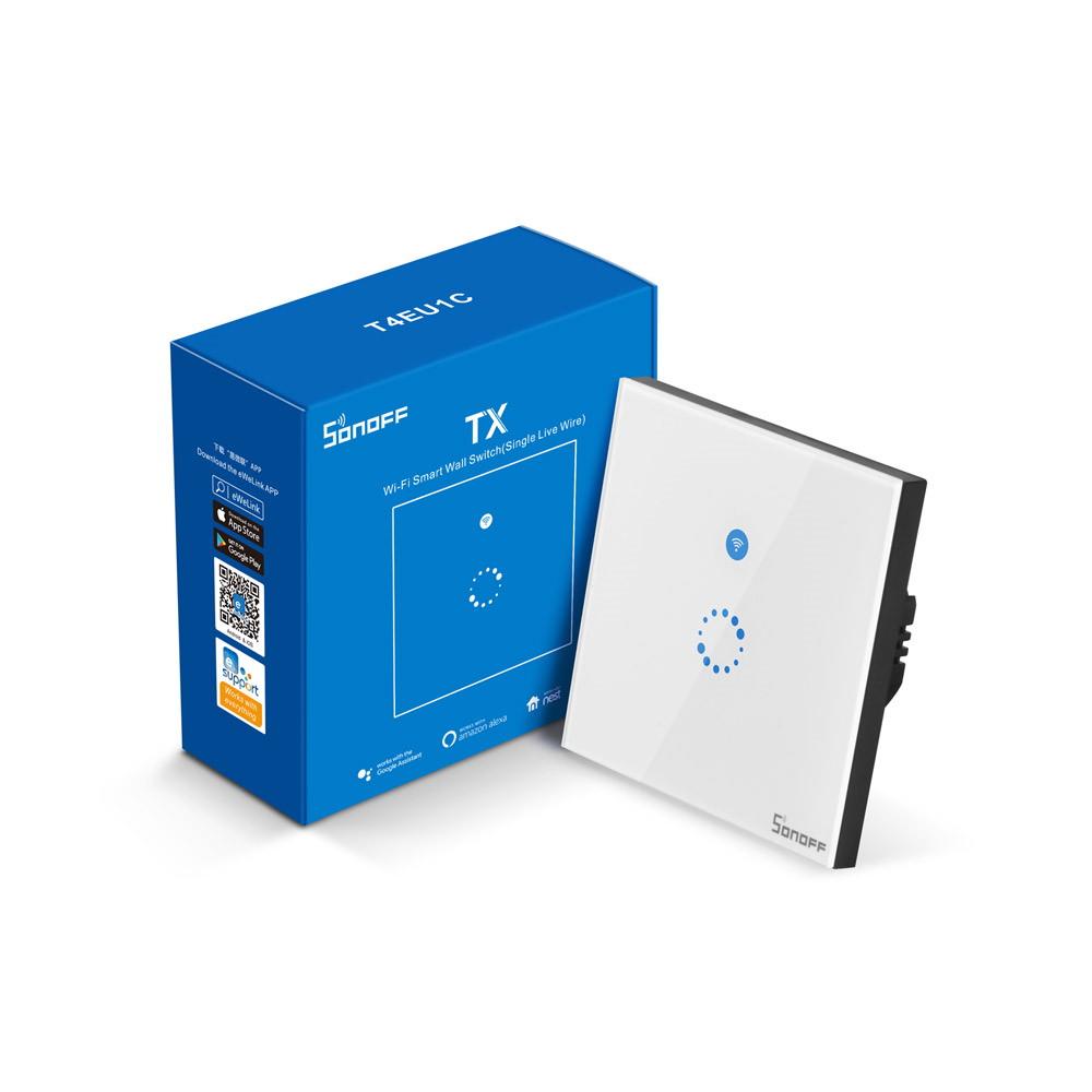 Công tắc cảm ứng WiFi RF thông minh không dây trung tính 1 cổng Sonoff T4EU1C